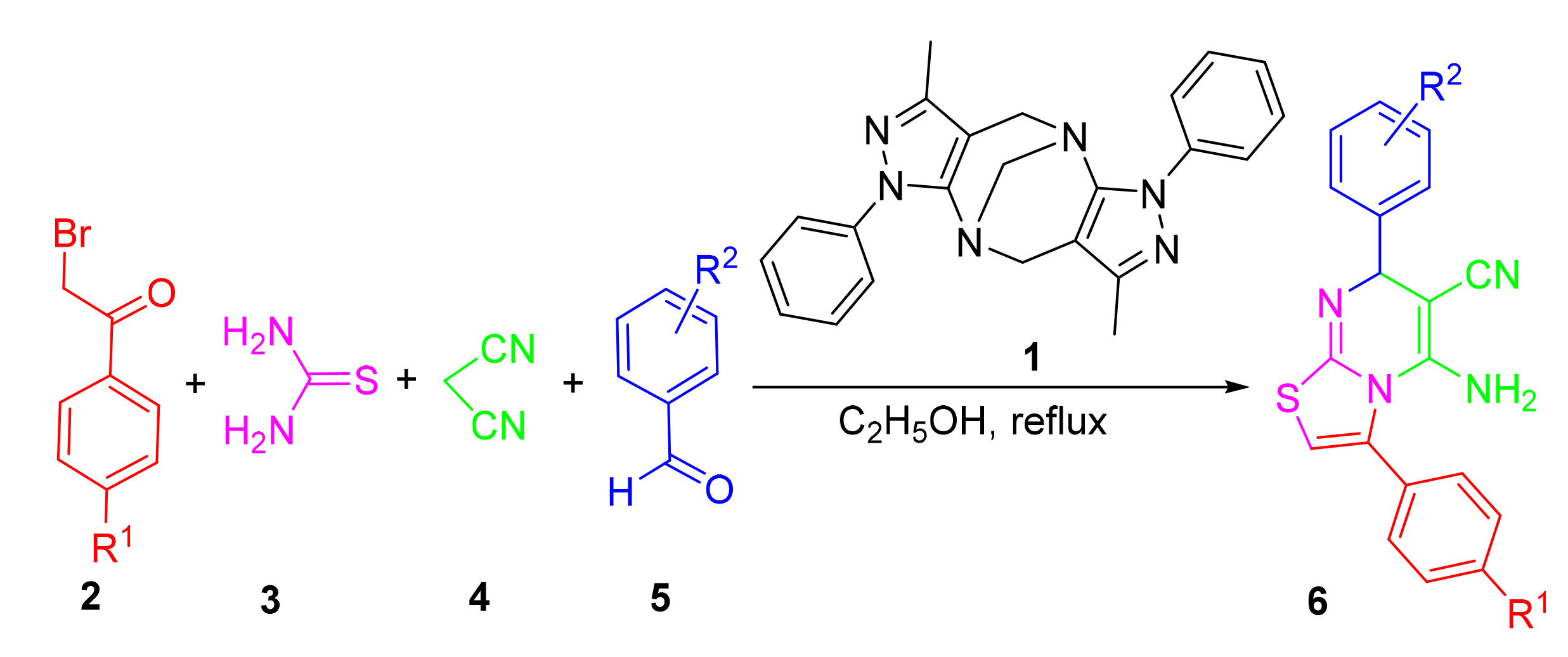 Synthesis and Biological Evaluation of Polysubstituted 5-amino-3,7-diphenyl-7<i>H</i>-thiazolo[3,2-<i>a</i>]pyrimidine-6-carbonitriles