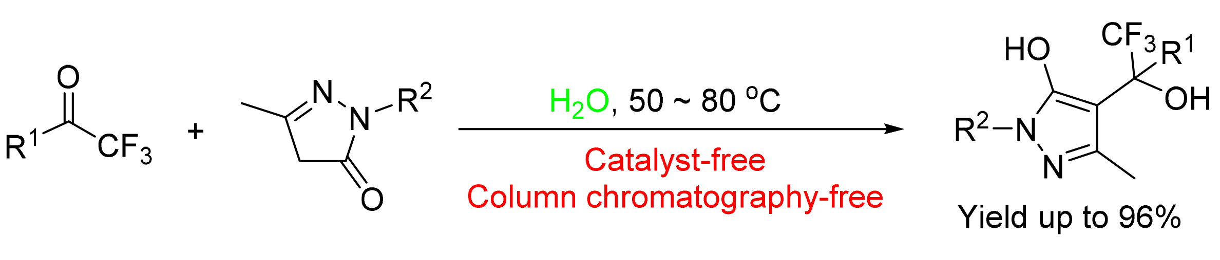 """On water"" Nucleophilic Addition of Pyrazolones to Trifluoromethyl Ketones"