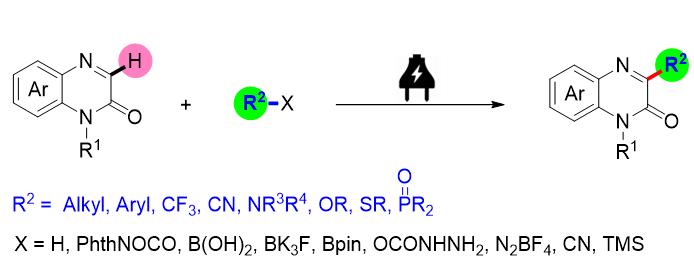 电化学条件下喹喔啉-2(1H)-酮C3-H功能化的研究进展